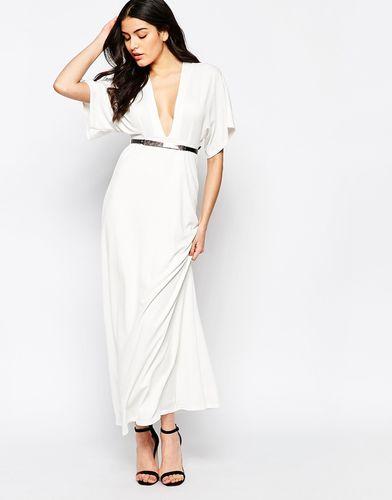 Платье макси с широкими рукавами и поясом Twin Sister - Кремовый