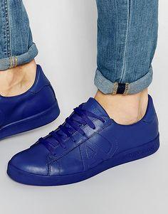 Кроссовки с логотипом Armani Jeans - Синий