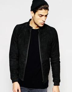 Замшевая куртка‑пилот Minimum - Черный