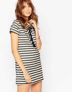 Полосатое платье со шнуровкой спереди Pepe Jeans - Полоски