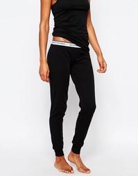 Хлопковые пижамные брюки Emporio Armani Visibility - Черный