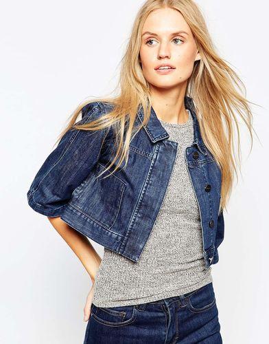 Укороченная джинсовая куртка с рукавами-кимоно Waven - Синий Taryn