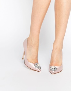 Туфли на каблуке с острым носком и декоративной отделкой ASOS PRICELESS - Бледно-розовый