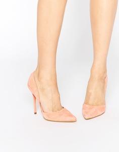 Замшевые туфли-лодочки на каблуке Steve Madden Varcitty - Пастельно-оранжевая замша