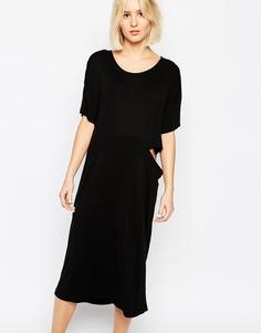 Платье миди с вырезами Dr Denim Hilda - Черный
