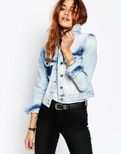 Выбеленная джинсовая куртка Noisy May - Синий
