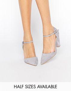 Туфли на каблуке с острым носом ASOS SPEAKER - Серый