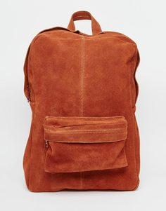 Замшевый рюкзак Park Lane - Красно-бурый