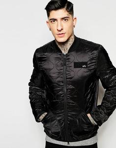 Черная стеганая куртка-пилот Alpha Industries - Черный