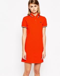 Платье-поло с двойным кантом Fred Perry - Красный