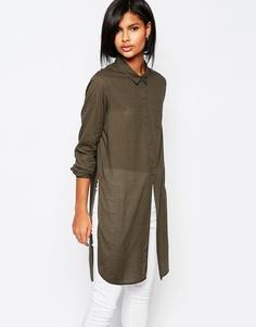 Рубашка с разрезами по бокам Vero Moda - Хаки