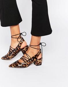 Туфли на каблуке с заостренным носком ASOS SAGA - Черепаховый