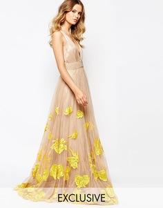 Тюлевое платье макси для выпускного с отделкой A Star Is Born Luxe