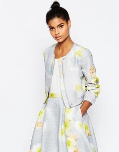 Фактурный пиджак с принтом ASOS - Пастельный цветочный