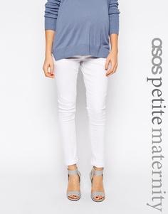 Белые джинсы скинни для беременных ASOS Maternity PETITE Ridley - Белый