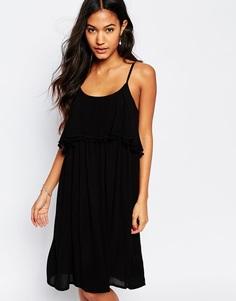Пляжное платье с помпонами сзади Akasa - Черный Asaka