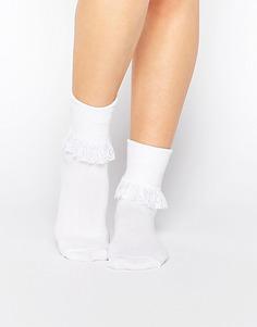 Носки с рюшами 7X - Белый