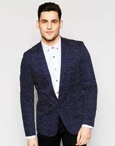 Облегающий пиджак в горошек Antony Morato - Темно-синий