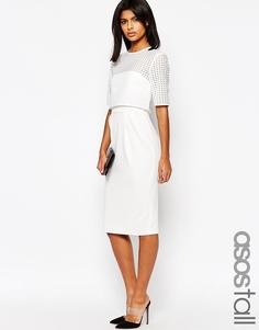 Платье с кружевным укороченным топом ASOS TALL - Белый