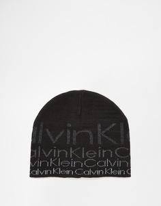 Шапка с логотипом Calvin Klein 1 - Черный
