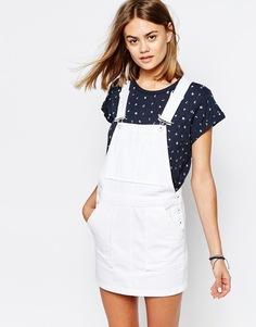 Джинсовое платье-комбинезон Jack Wills - Белый