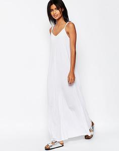 Платье макси на бретельках ASOS - Белый