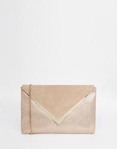 Серый клатч-конверт Dune - Серый