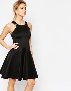 Короткое приталенное платье с пряжками на бретельках Ted Baker Jaimie - Черный