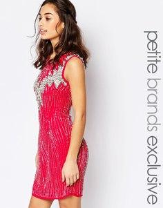 Цельнокройное платье без рукава с камнями Maya Petite - Hot pink