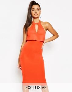 Платье-футляр миди 2-в-1 Naanaa - Оранжевый