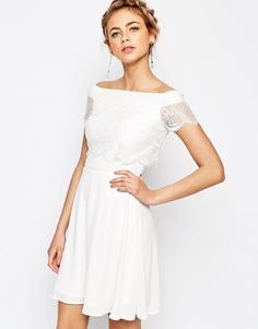 Платье 2 в 1 с кружевом Elise Ryan - Белый