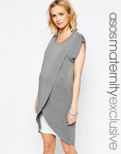 Платье для кормящих мам с запахом ASOS Maternity