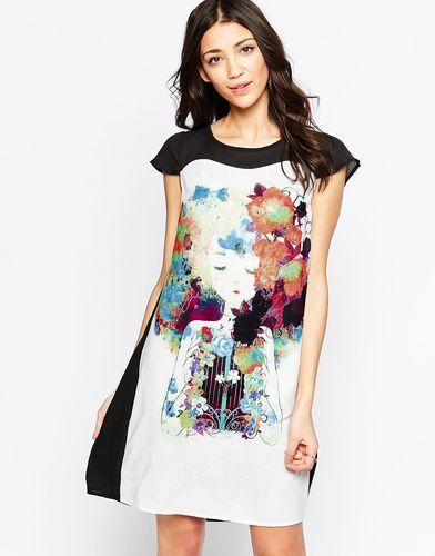Цельнокройное платье колор блок Lavand - Черный