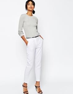 Льняные брюки-сигареты с ремнем ASOS - Белый