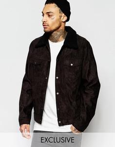 Черная ковбойская куртка с воротником борг Liquor & Poker - Черный