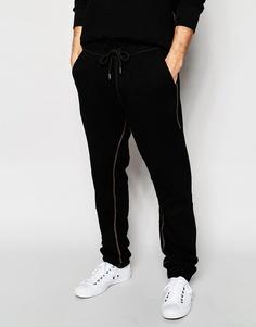 Спортивные штаны с молниями True Religion - Jet black