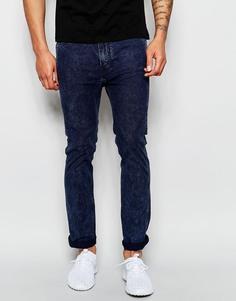Черные выбеленные супероблегающие джинсы стретч Levi's Line 8 Sidewalk - Sidewalk