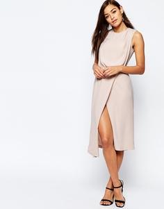 Платье с драпировкой спереди ASOS - Телесный