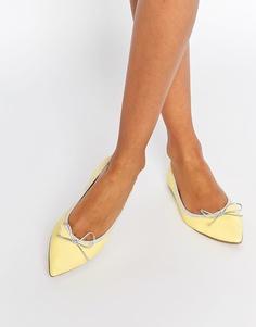 Эластичные балетки с острым носком ASOS LULU - Желтый
