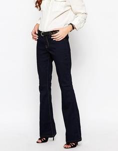 Расклешенные джинсы с заниженной талией J.D.Y - Синий JDY