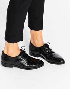 Кожаные туфли с эффектом змеиной кожи Bronx - Черный