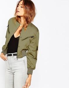Укороченная куртка‑пилот ASOS - Хаки