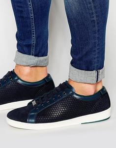 Замшевые кроссовки Ted Baker Slowne - Синий