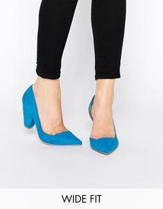 Tуфли для широкой стопы на каблуке ASOS SAPPHIRE - Синий