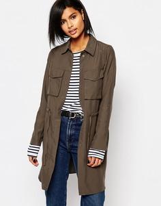 Куртка в стиле милитари с завязкой на талии Vero Moda - Белуга