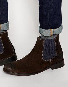 Замшевые ботинки челси Base London Scuttle - Коричневый