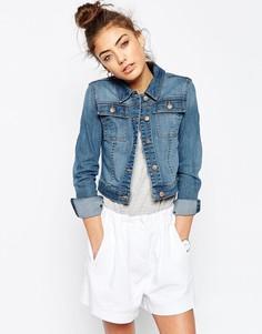 Синяя джинсовая куртка ASOS - Сине-голубого цвета