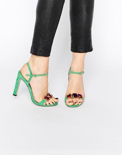 Босоножки на каблуке ASOS HEARING - Зеленый