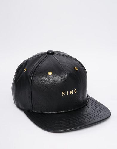 Бейсболка из искусственной кожи King Apparel - Черный