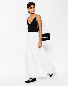 Плиссированная юбка макси ASOS - Белый